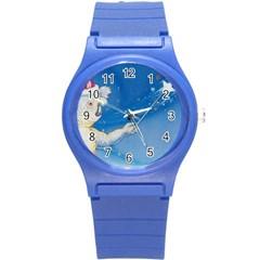 Santa Wand koala Round Plastic Sport Watch Small