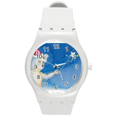Santa Wand Koala Round Plastic Sport Watch Medium