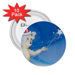 Santa Wand koala 10 Pack Regular Button (Round)