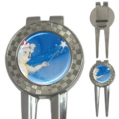 Santa Wand koala Golf Pitchfork & Ball Marker
