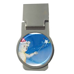 Santa Wand koala Money Clip (Round)