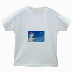 Santa Wand Koala White Kids'' T Shirt