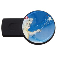 Santa Wand Koala 4gb Usb Flash Drive (round)
