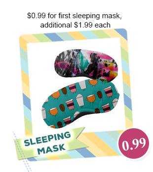 $0.99 for 1st Custom Sleeping Mask, Additional $1.99/each with Free Shipping