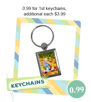 $0.99 for 1st Custom Keychain, Additional each $3.99 with Free Shipping