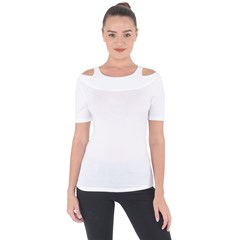 Shoulder Cut Out Short Sleeve Top