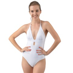 Halter Cut-Out One Piece Swimsuit