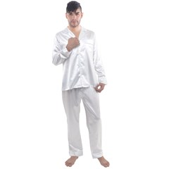 Men s Long Sleeve Satin Pajamas Set