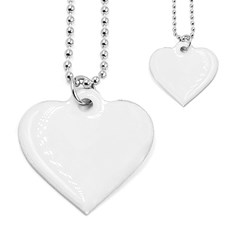 Dog Tag Heart (Two Sided)