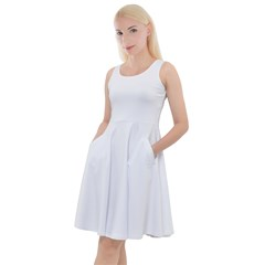 Knee Length Skater Dress With Pockets