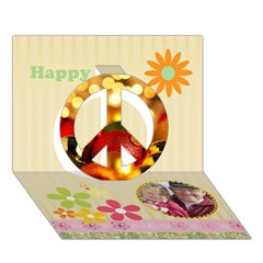 Peace Sign 3D Greeting Card (7x5)