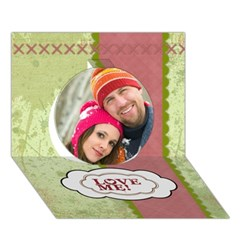 Circle 3D Greeting Card (7x5)