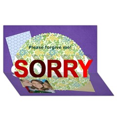 SORRY 3D Greeting Card (8x4)