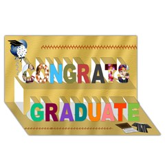 Congrats Graduate 3D Greeting Card (8x4)