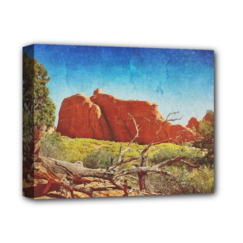 Moab, Utah Deluxe Canvas 14  X 11  (stretched) by heathergreen