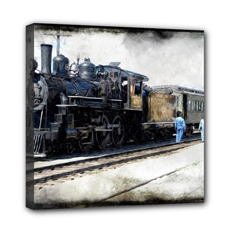 The Steam Train 8  X 8  Framed Canvas Print by AkaBArt