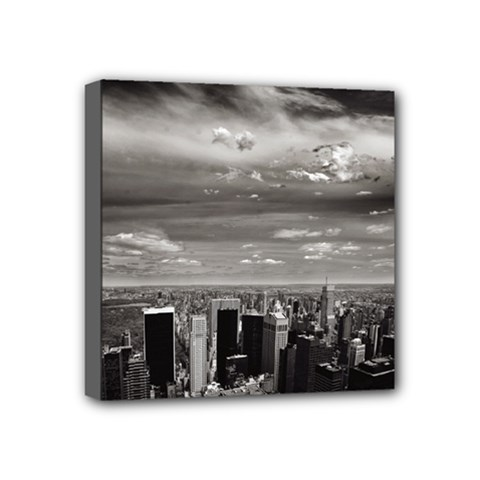 New York 4  X 4  Framed Canvas Print by artposters