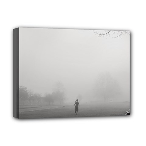 Foggy Morning, Oxford Deluxe Canvas 16  X 12  (stretched)  by artposters
