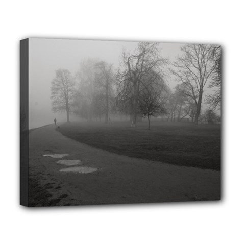 Foggy Morning, Oxford Deluxe Canvas 20  X 16  (stretched) by artposters