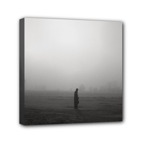 Foggy Morning, Oxford 6  X 6  Framed Canvas Print by artposters