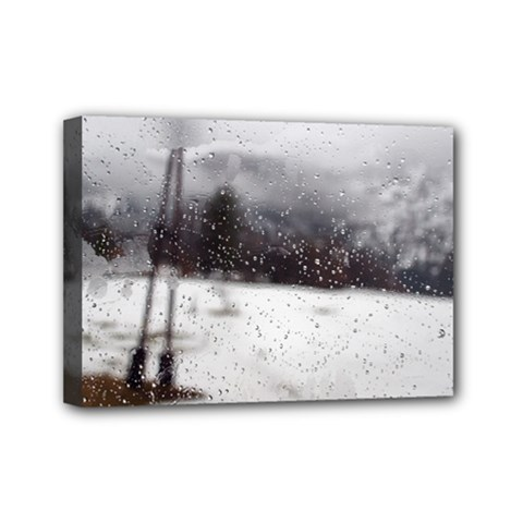 Rainy Day, Salzburg 5  X 7  Framed Canvas Print by artposters