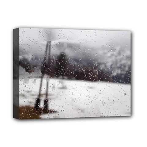 Rainy Day, Salzburg Deluxe Canvas 16  X 12  (stretched)  by artposters