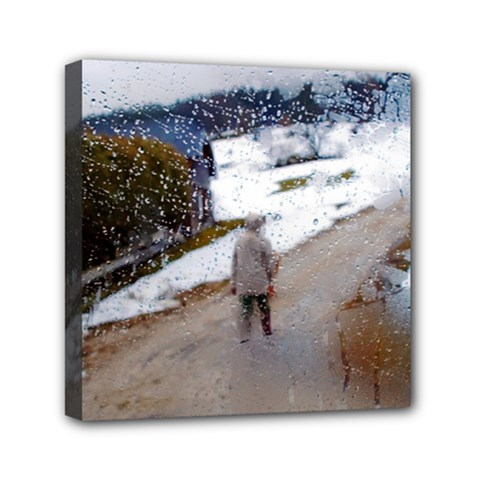 Rainy Day, Salzburg 6  X 6  Framed Canvas Print by artposters