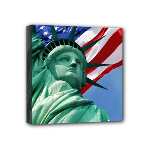Statue Of Liberty, New York 4  X 4  Framed Canvas Print by artposters