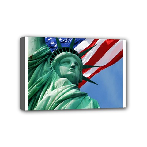 Statue Of Liberty, New York 4  X 6  Framed Canvas Print by artposters