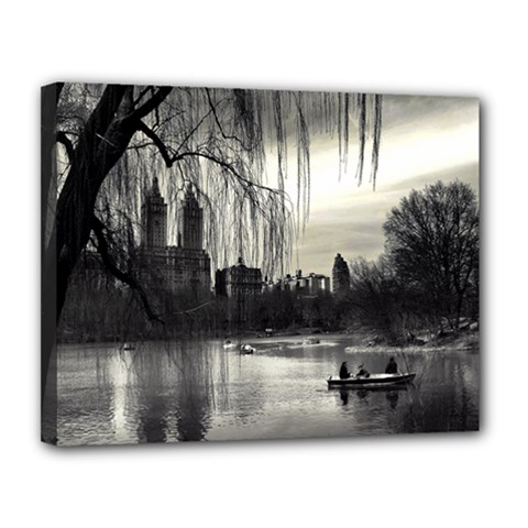 Central Park, New York 11  X 14  Framed Canvas Print