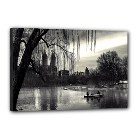 Central Park, New York 12  X 18  Framed Canvas Print by artposters