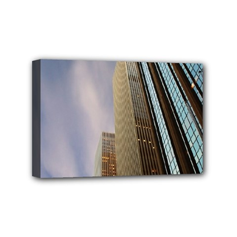 Skyscrapers, New York 4  X 6  Framed Canvas Print