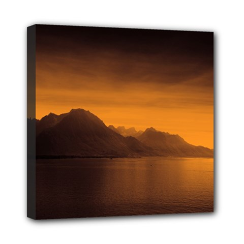 Waterscape, Switzerland 8  X 8  Framed Canvas Print by artposters