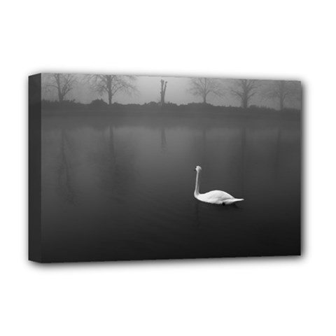 Swan Deluxe Canvas 18  X 12  (stretched) by artposters