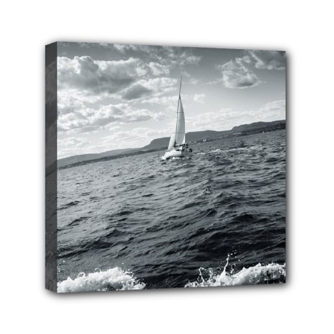 Sailing 6  X 6  Framed Canvas Print by artposters