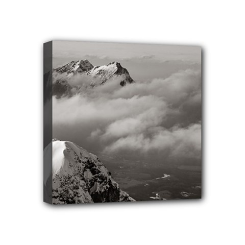 Untersberg Mountain, Austria 4  X 4  Framed Canvas Print by artposters