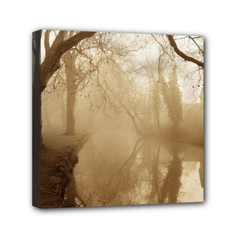 Misty Morning 6  X 6  Framed Canvas Print by artposters
