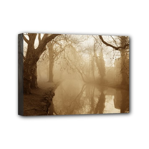 Misty Morning 5  X 7  Framed Canvas Print by artposters