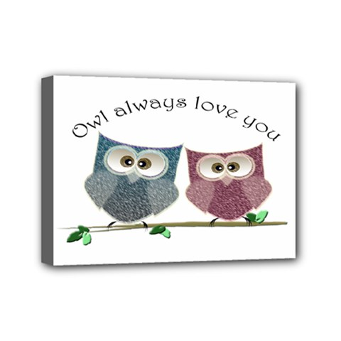 Owl Always Love You, Cute Owls 5  X 7  Framed Canvas Print by DigitalArtDesgins