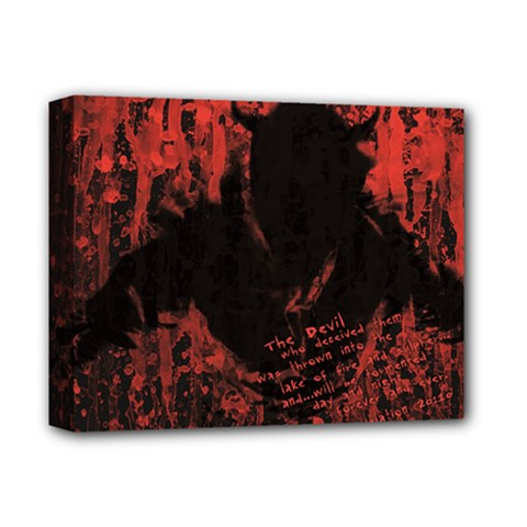Tormented Devil Deluxe Canvas 14  X 11  (stretched) by VaughnIndustries
