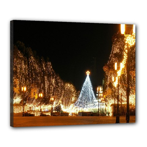 Christmas Deco 16  X 20  Framed Canvas Print by Unique1Stop
