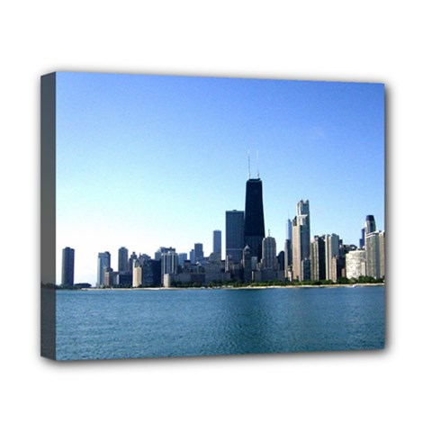 Chicago Skyline Canvas 10  x 8  (Framed)