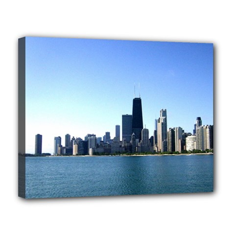 Chicago Skyline  Canvas 14  x 11  (Framed)