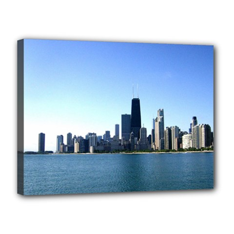 Chicago Skyline Canvas 16  x 12  (Framed)