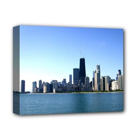 Chcago Skyline Deluxe Canvas 14  X 11  (framed) by canvasngiftshop