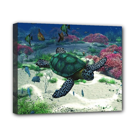 Sea Turtle Canvas 10  X 8  (stretched)