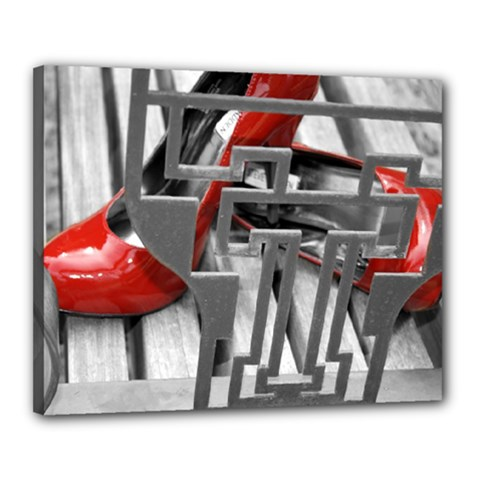 Tt Red Heels Canvas 20  X 16  (framed) by dray6389