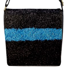 Black Blue Lawn Removable Flap Cover (small) by hlehnerer