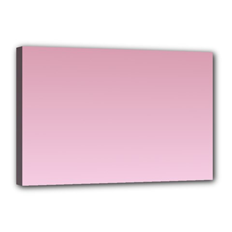 Puce To Pink Lace Gradient Canvas 18  X 12  (framed)