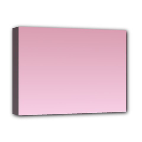 Puce To Pink Lace Gradient Deluxe Canvas 16  X 12  (framed)